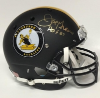 "Joe Greene Signed Steelers Throwback Custom Matte Black Full-Size Helmet Inscribed ""HOF 87"" (JSA COA) at PristineAuction.com"