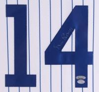 """Ernie Banks Signed Cubs 34"""" x 38"""" Custom Framed Jersey Display (Banks Hologram & TriStar Hologram) at PristineAuction.com"""