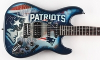 "Tom Brady Signed LE Patriots Electric Guitar Inscribed ""5x Champ"" (Steiner COA & TriStar Hologram)"