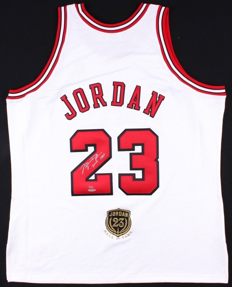 Michael Jordan Signed Limited Edition Authentic Bulls Jersey Inscribed