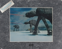 Star Wars The Empire Strikes Back 1994 Limited Edition Chromium Print: Imperial AT-AT Attack (Lucasfilm COA)