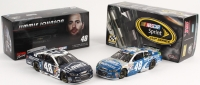 Lot of (2) Jimmie Johnson LE Chevy SS NASCAR Custom 1:24 Diecast Cars with (1) 2014 Lowe's Jimmie Johnson Foundation & (1) 2015 Lowe's Proservices Dover Win