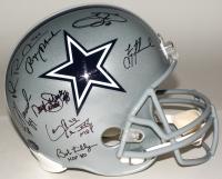"Dallas Cowboys Greats Signed Full-Size Helmet with (23) Signatures Including Roger Staubach, Troy Aikman, Michael Irvin, Emmitt Smith, Randy White, Ed ""Too Tall"" Jones (Radtke Hologram, Prova Hologram, & Aikman Hologram)"