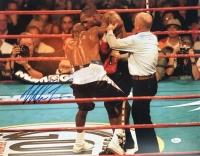 Mike Tyson Signed 16x20 Photo vs. Evander Holyfield (JSA COA)