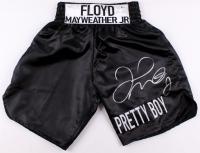 Floyd Mayweather Jr Signed Boxing Trunks (Beckett COA)