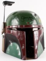 """Jeremy Bulloch Signed Star Wars """"Boba Fett"""" Full-Size Deluxe Edition Star Wars Helmet Inscribed """"Boba Fett"""" (Beckett COA)"""