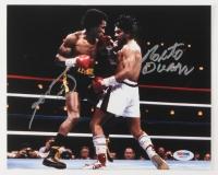 Roberto Duran & Sugar Ray Leonard Signed Boxing 8x10 Photo (PSA COA)