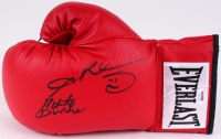 Sugar Ray Leonard & Roberto Duran Signed Everlast Boxing Glove (PSA Hologram)