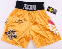 """Manny Pacquiao Signed Boxing Trunks Inscribed """"Pacman"""" (PSA Hologram)"""