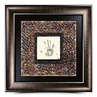 "LeBron James Signed ""Tegata"" 37"" x 37 Custom Framed 10th Anniversary Career Mosaic (UDA COA)"