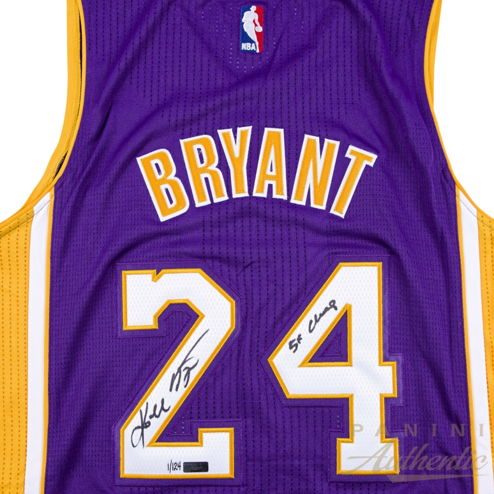 Kobe Bryant Signed LE Lakers Authentic Adidas Jersey Inscribed
