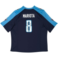 "Marcus Mariota Signed Tennessee Titans Jersey Inscribed ""15 1st Round Pick"" (UDA COA)"
