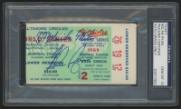 "Nolan Ryan Signed 1969 World Series Ticket Stub Inscribed ""69 Miracle Mets"" (PSA Encapsulated & Auto Grade 10)"
