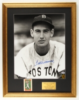 "Ted Williams Signed Red Sox 22"" x 28""  Custom Framed Photo Display with Pennant (PSA LOA & Williams Hologram)"
