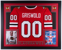 "Chevy Chase Signed ""National Lampoon's Christmas Vacation"" Blackhawks 35"" x 43"" Custom Framed Jersey (Chase & Beckett COA)"