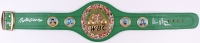 "Roberto Duran & Tommy Hearns Signed Full-Size WBC Heavyweight Championship Belt Inscribed ""Hitman"" (Beckett COA)"