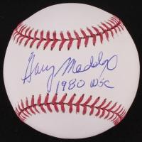"Garry Maddox Signed OML Baseball Inscribed ""1980 WSC"" (SV COA)"