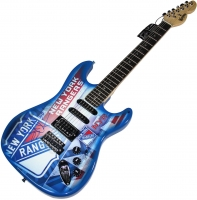 Henrik Lundqvist Signed Rangers Electric Guitar (Steiner Hologram)
