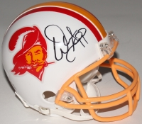 Warren Sapp Signed Buccaneers Throwback Mini-Helmet (JSA COA)