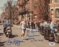 "Bill Rodgers Signed 8x10 Photo Inscribed ""1st Boston Marathon 75-78-79-80"" (PSA COA)"