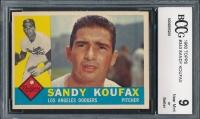 1960 Topps #343 Sandy Koufax (BCCG 9)