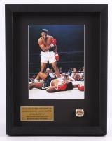 Muhammad Ali 13.5x16.5x2 Custom Framed Photo Shadow Box Display with High Quality 1964 World Champion Replica Ring