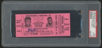 Muhammad Ali Signed Original 1965 Heavyweight Championship Title Bout Ticket (PSA Encapsulated & Ticket Graded PSA 8)