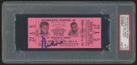 Muhammad Ali Signed Original 1965 Heavyweight Championship Title Bout Ticket (PSA Encapsulated & Ticket Graded PSA 8)