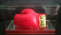 "Muhammad Ali Single Signed Everlast Boxing Glove Signed as ""Cassius Clay"" with High Quality Display Case (JSA LOA)"