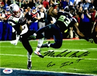 "Malcolm Butler Signed Patriots 8x10 Photo Inscribed ""GW Int"" (PSA COA)"