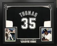 Frank Thomas Signed White Sox 36x44 Custom Framed Jersey (JSA COA)