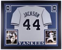 Reggie Jackson Signed Yankees 35x43 Custom Framed Jersey (JSA COA)