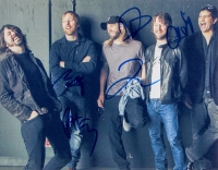 Foo Fighters 11x14 Photo Signed by (5) with Dave Grohl, Nate Mendel, Pat Smear, Taylor Hawkins & Chris Shiflett (JSA ALOA)