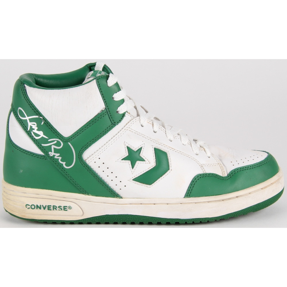 best price good out x on feet at Larry Bird Signed Throwback Converse Basketball Shoe (PSA COA ...