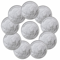 Lot of (9) 2017 American Indian Buffalo Design 1 oz. .999 Fine Silver Rounds from Highland Mint (Brilliant Uncirculated) at PristineAuction.com