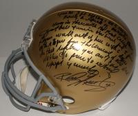 "Rudy Ruettiger Signed Full-Size Notre Dame Fighting Irish Helmet with ""Full Speech"" Extensive Inscription (MAB Hologram)"