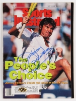 Jimmy Connors Signed 1991 Sports Illustrated Magazine (MAB Hologram)