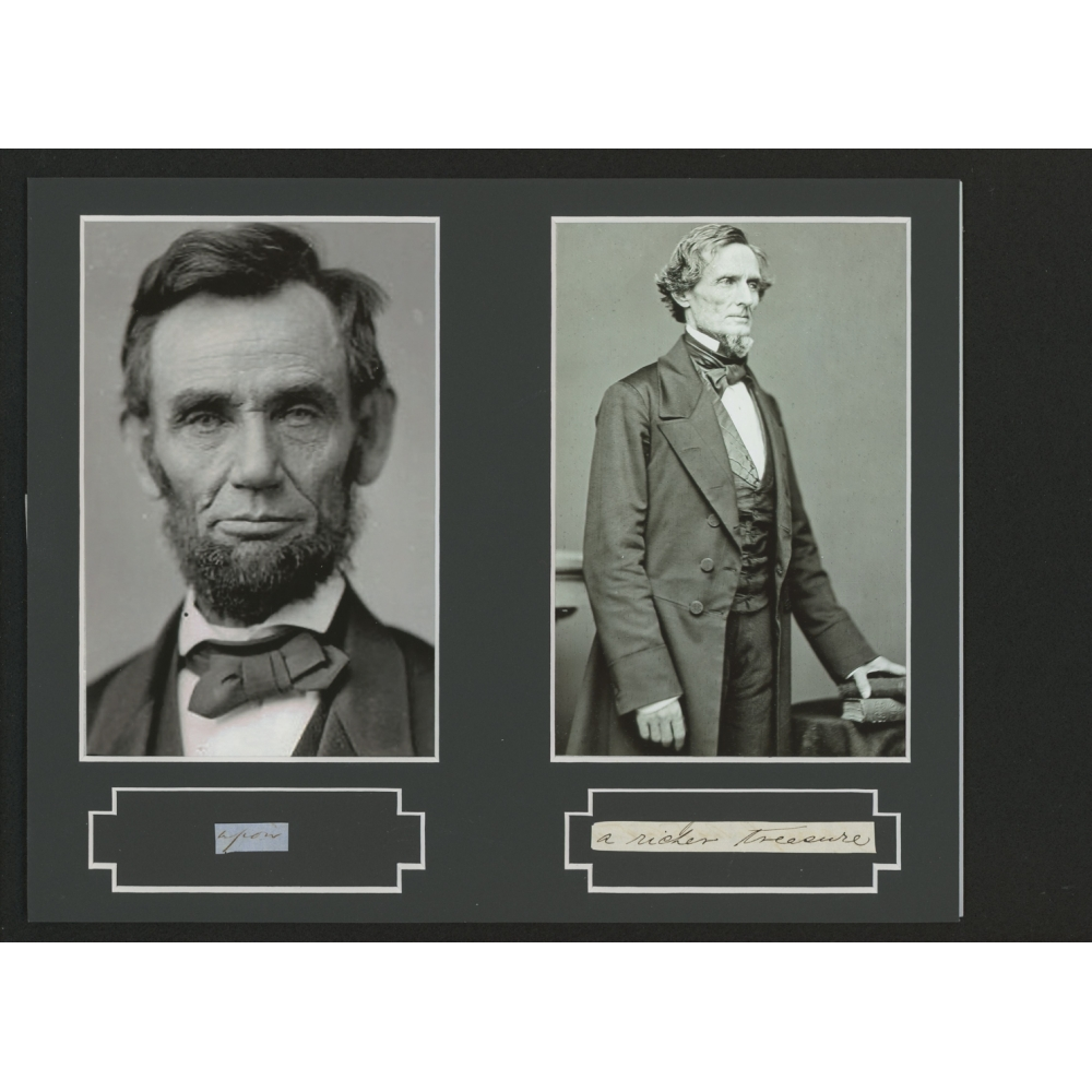 jefferson davis and abraham lincoln as The paperback of the 1858: abraham lincoln, jefferson davis, robert e lee, ulysses s grant and the war they failed to see by bruce chadwick at barnes.