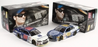 Lot of (2) Dale Earnhardt Jr.  2015 LE Chevrolet SS 1:24 Scale Die Cast Cars with (1) Microsoft & (1) Kelley Blue Book