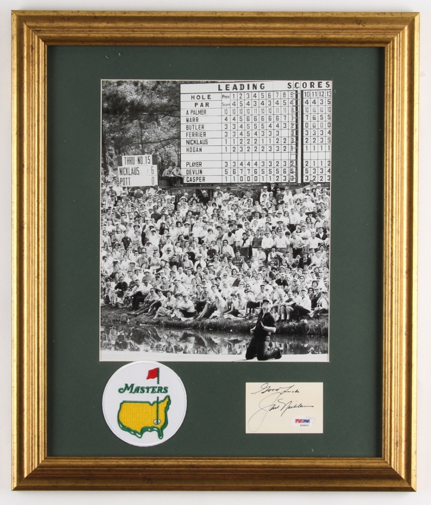 1373d515fea Jack Nicklaus Signed 16.5x19.5 Custom Framed Cut   Photo Display Inscribed