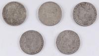 Lot of (5) Morgan Silver Dollar