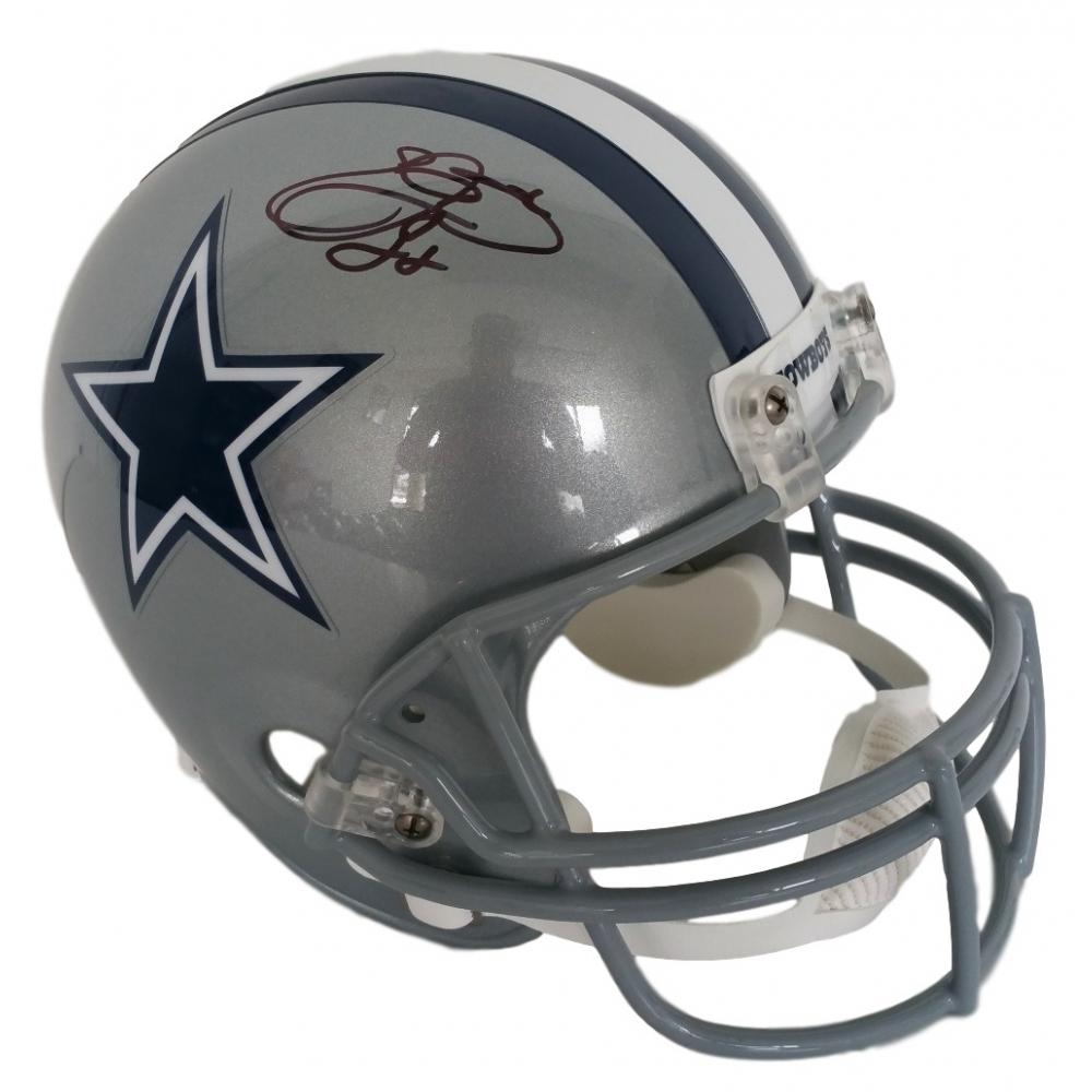 645a926cf Emmitt Smith Signed Cowboys Full-Size Helmet (Beckett COA)