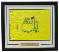 Ernie Els Signed 2011 Masters 21x24 Custom Framed Pin Flag Display (JSA COA)