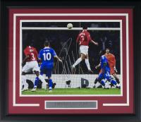 Cristiano Ronaldo Signed Manchester United 19x22 Custom Framed Photo (Icons COA)