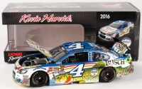 Kevin Harvick Signed LE #4 Busch Fishing 2016 SS Galaxy Color 1:24 Die Cast Car (Action COA)