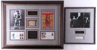 Lot of (2) Custom Framed Signed Displays with Harry Houdini (1/1) & Dorothy Young (JSA COA & Leaf Encapsulated)