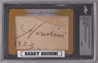Lot of (2) Custom Framed Signed Displays with Harry Houdini (1/1) & Dorothy Young (JSA COA & Leaf Encapsulated) at PristineAuction.com