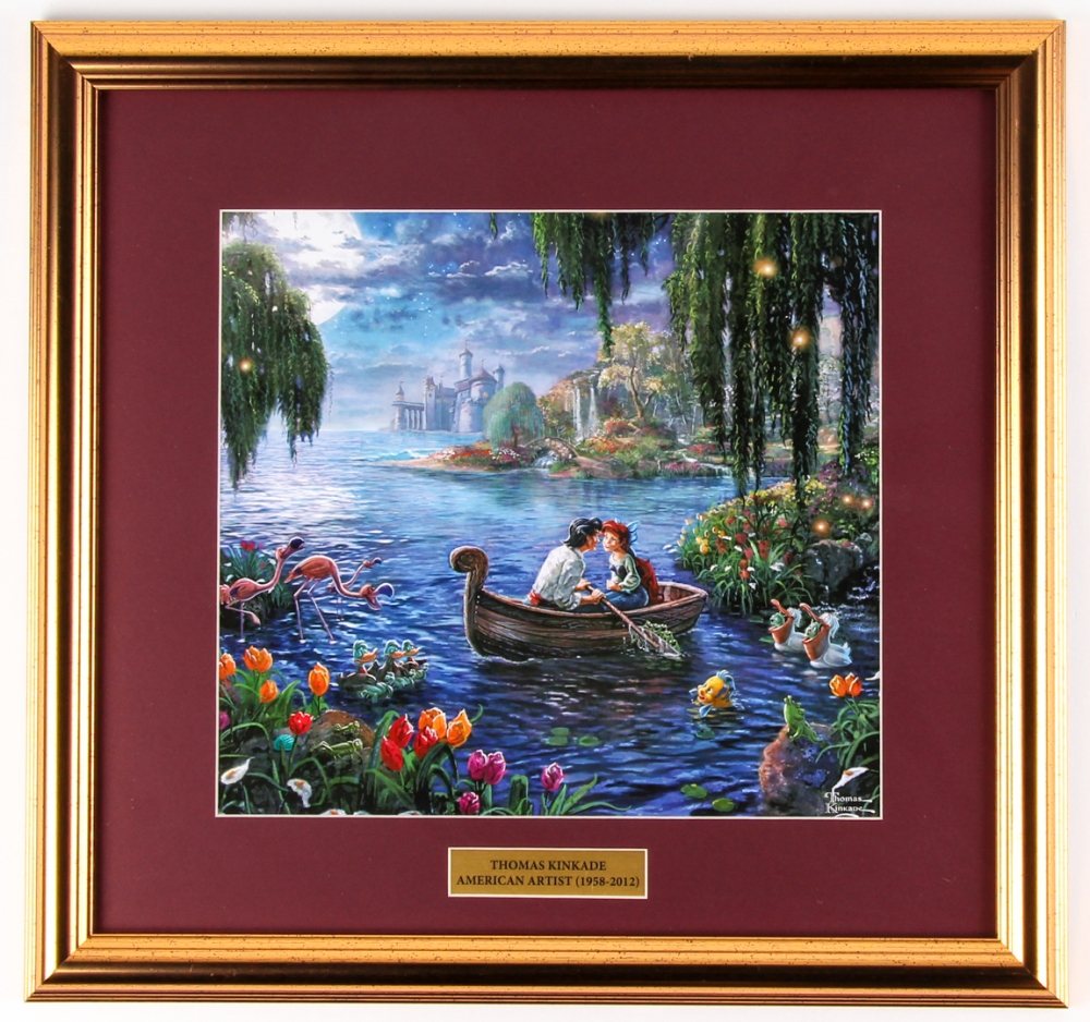 "Thomas Kinkade Walt Disney ""Little Mermaid"" 17x18 Custom Framed Print Display at PristineAuction.com"