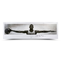 "Michael Jordan Signed Bulls ""Wings"" 23x72 Limited Edition Print Inscribed ""2009 HOF"" (UDA COA) at PristineAuction.com"