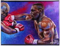 "Mike Tyson Signed 35x43 Bill Lopa Hand-Embelished Giclee on Canvas ""AROC #44/44"" (JSA & PSA COA)"
